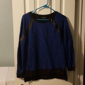 Express one shoulder zipper sweater